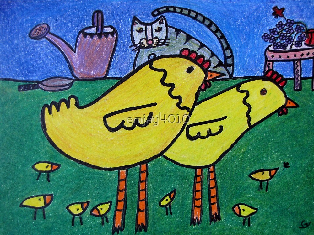 Cats and Chickens by emjay4010