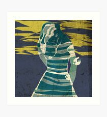 woman in the storm Art Print
