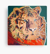 Sibirischer Tiger - Andy Warhol Metallbild