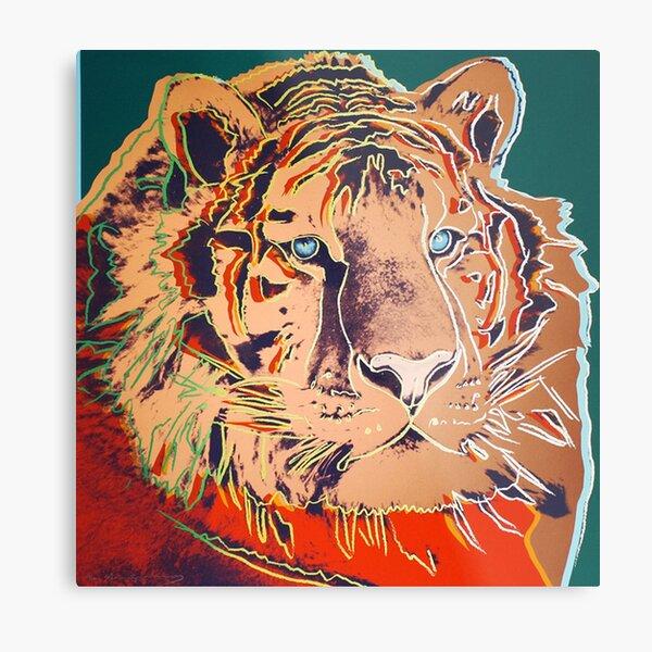 Siberian Tiger - Andy Warhol Metal Print