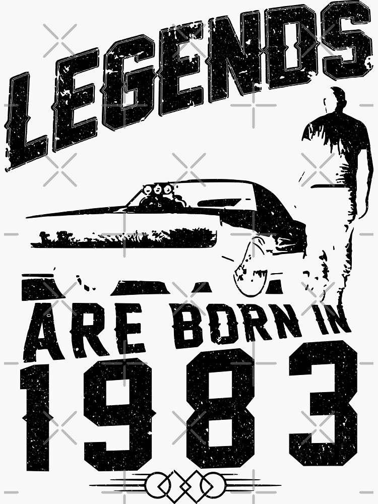 Legends Are Born In 1983 by wantneedlove