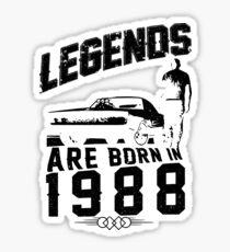 Legends Are Born In 1988 Sticker