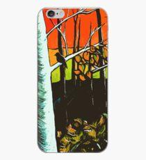 Orange Sky Through the Trees iPhone Case