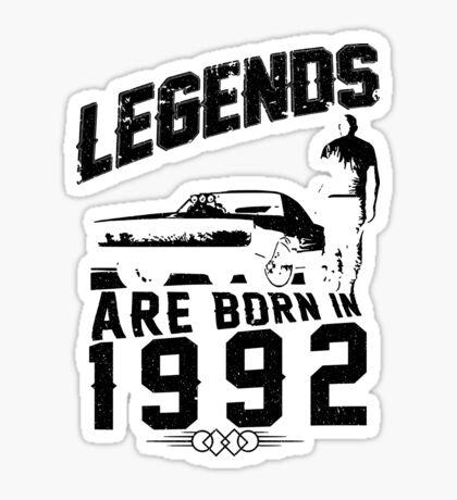 Legends Are Born In 1992 Sticker