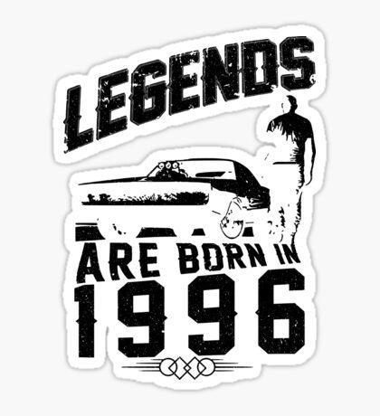 Legends Are Born In 1996 Sticker
