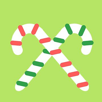 Candy Canes Crossed (Lime) by kclarkson