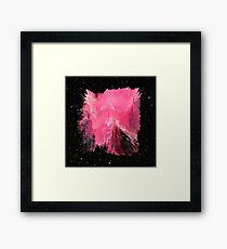 Pink Nebula Explosion Framed Print