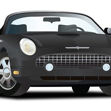 2002-2005 Ford Thunderbird Black by azoid
