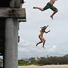 Jetty Jumping, Christmas Day in Australia by Adrian Paul