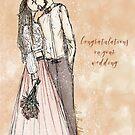 Wedding greeting card  by cardwellandink
