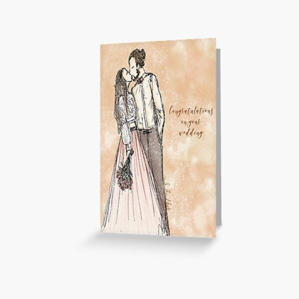 Wedding greeting card  Greeting Card