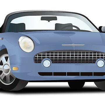 2002-2005 Ford Thunderbird Blue by azoid