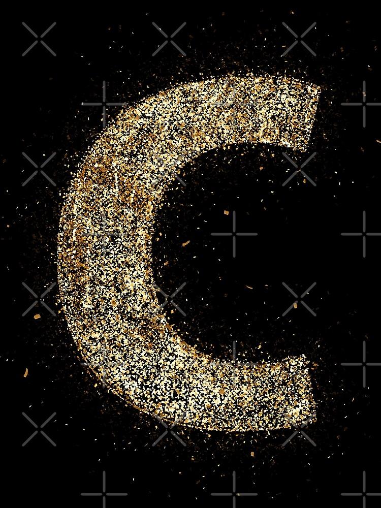 Letters abc wood golden ornament Gold de VincentW91