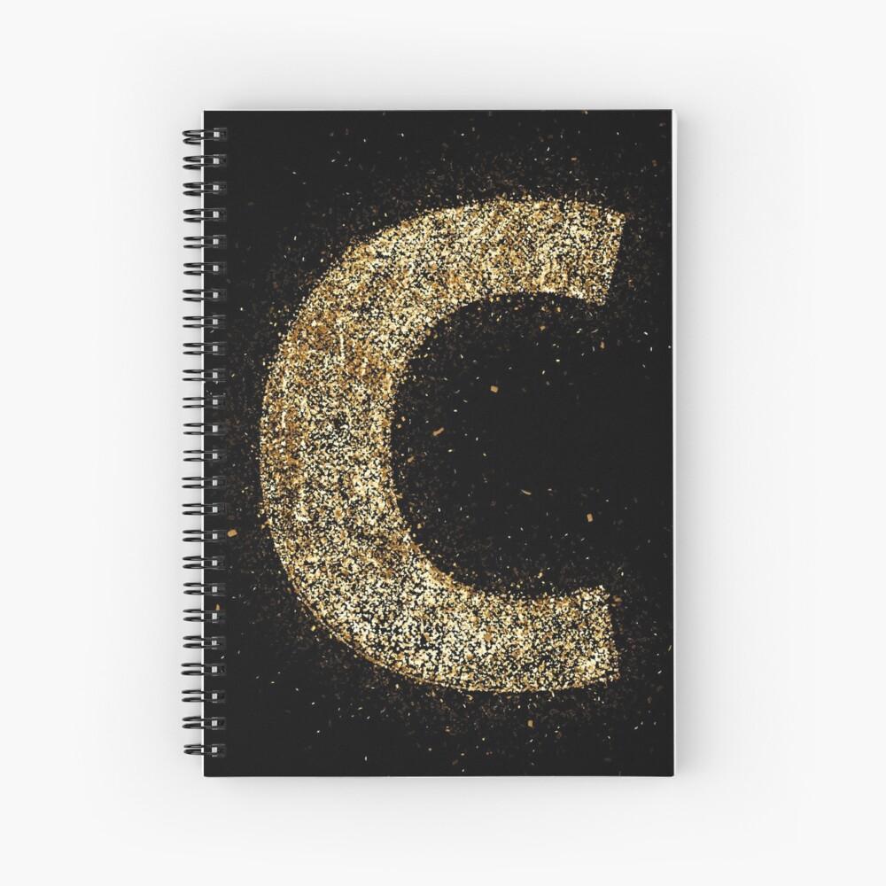 Letters abc wood golden ornament Gold Cuaderno de espiral