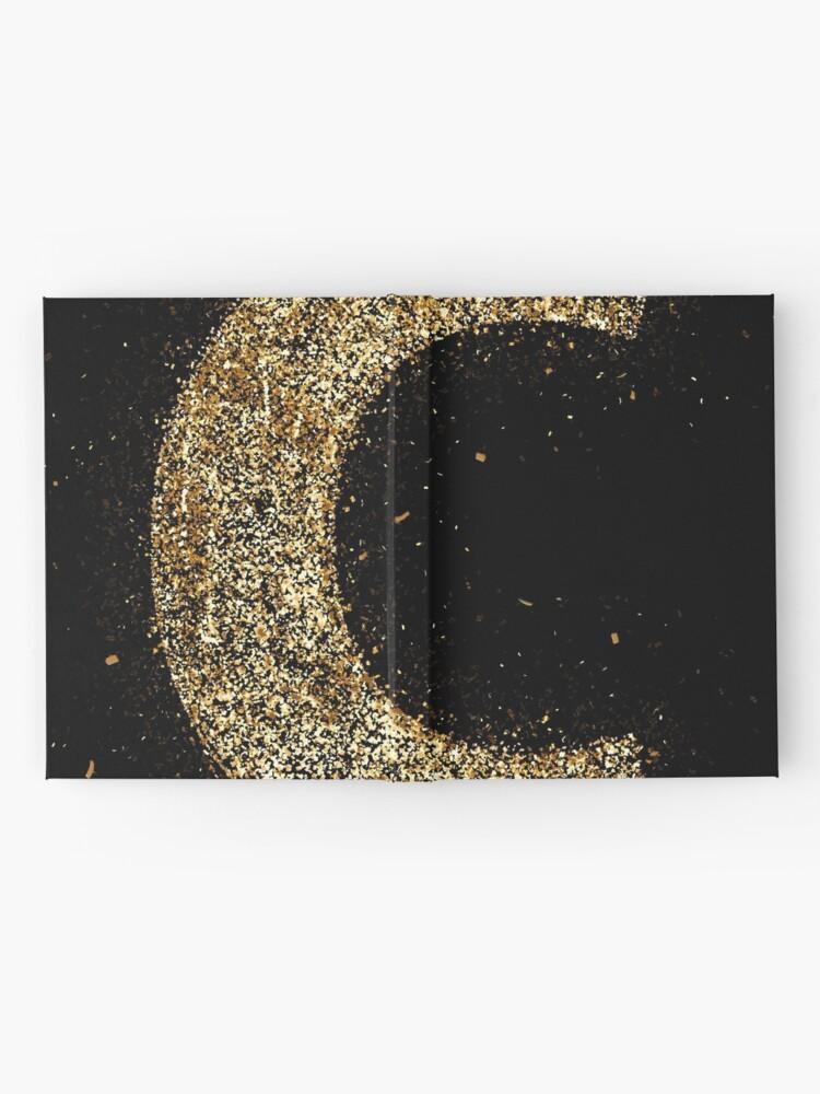 Vista alternativa de Cuaderno de tapa dura Letters abc wood golden ornament Gold