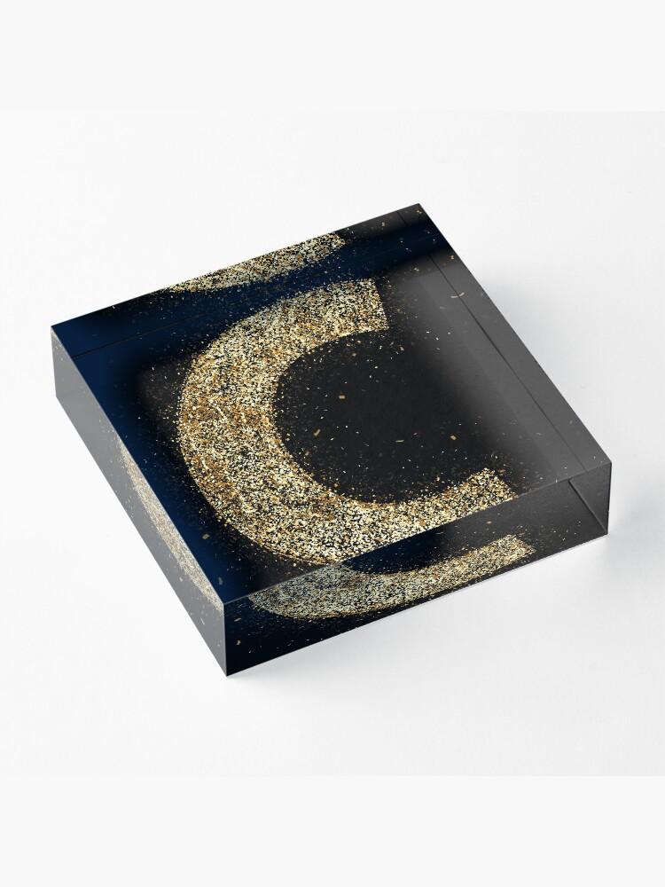 Vista alternativa de Bloque acrílico Letters abc wood golden ornament Gold