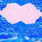 Blue Glitch Landscape by nickjaykdesign