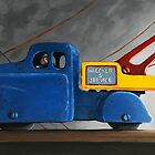 Light Load - realistic oil painting whimsical vintage toys by LindaAppleArt