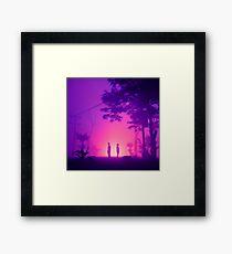 Desert Fog Purple Framed Print
