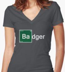 Badger Women's Fitted V-Neck T-Shirt