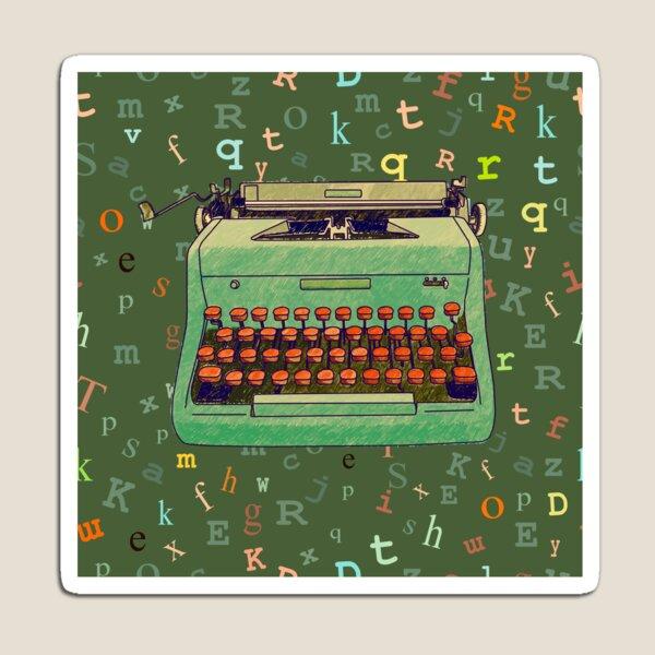 Hand Drawn Typewriter Seamless Design Magnet