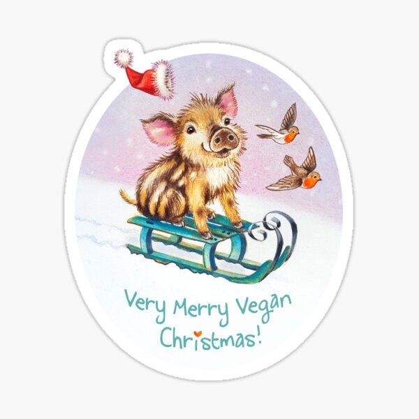 Vegan Christmas by Maria Tiqwah Sticker