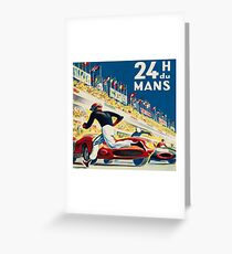 Vintage - 24 Hours of Le Mans (24 H du Mons) Greeting Card