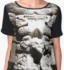 #NationalAnthropologyMuseum #PolancoChapultepec #MiguelHidalgo #MexicoCity #Mexico #CentralAmerica #mexicanculture #mexicanethnicity #sculpture #art #statue #religion #ancient #veil #god #portrait  Chiffon Top