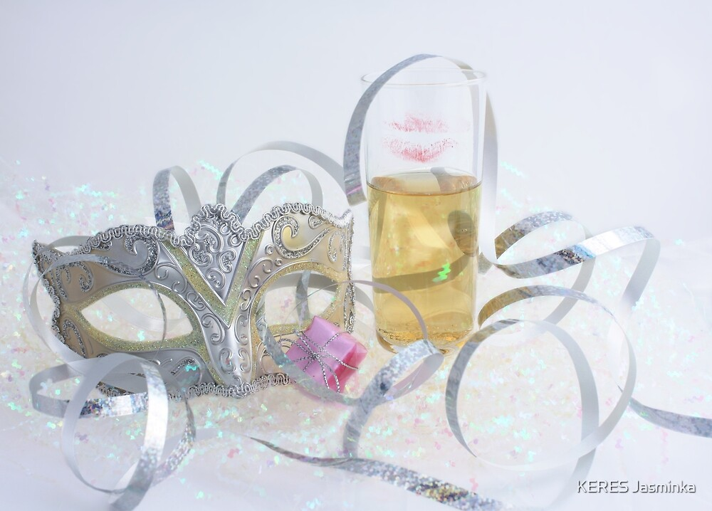 champagne mask and fiesta by KERES Jasminka
