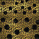 Leopard Print with Hot Pink Dots by Namoh