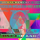 Obverse of a Colorized One U. S. Dollar Bill  by Serge Averbukh