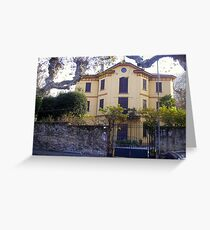 Lovely House on Lake of Como Greeting Card