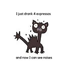 coffee lover- funny quote-  coffee and cats  by Angie Stimson