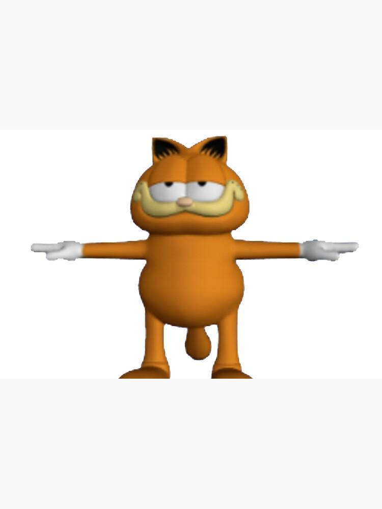 Garfield T Pose Laptop Skin By Jakeebler Redbubble