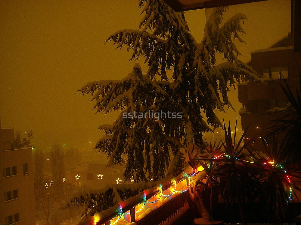 Lights and snow #2 by sstarlightss