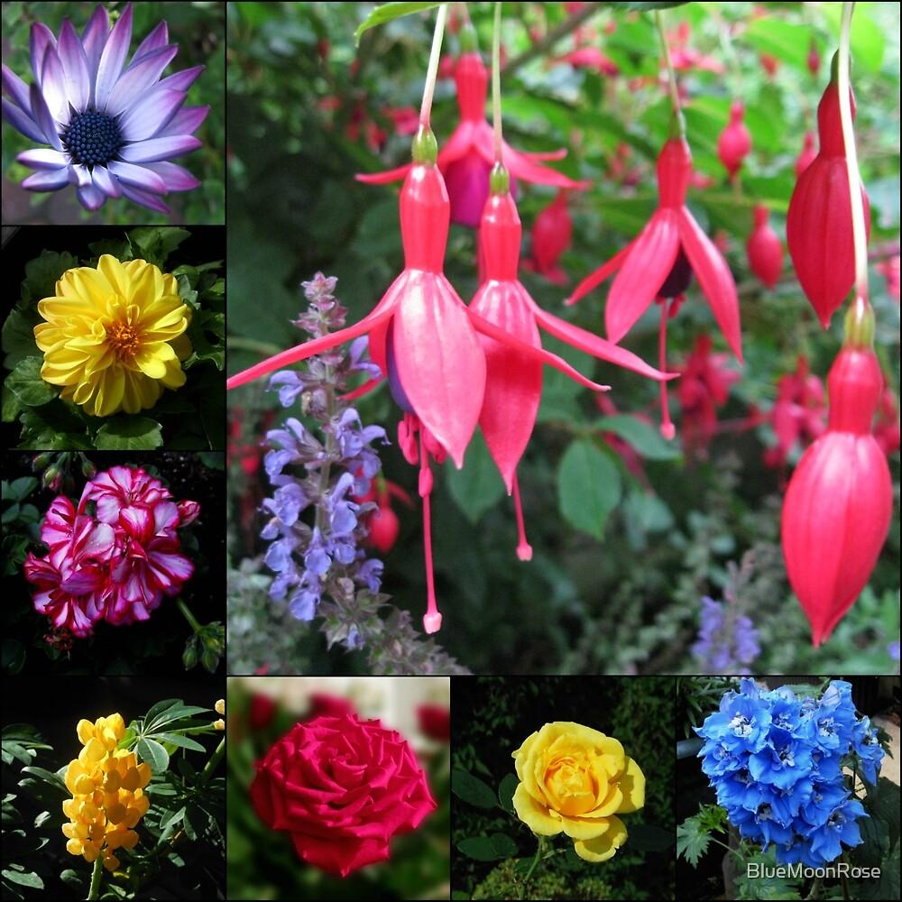 Erinnerungen an den Sommer - Floral Collage von BlueMoonRose