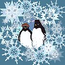 Frosty Weathered Penguins by Melissa J Barrett