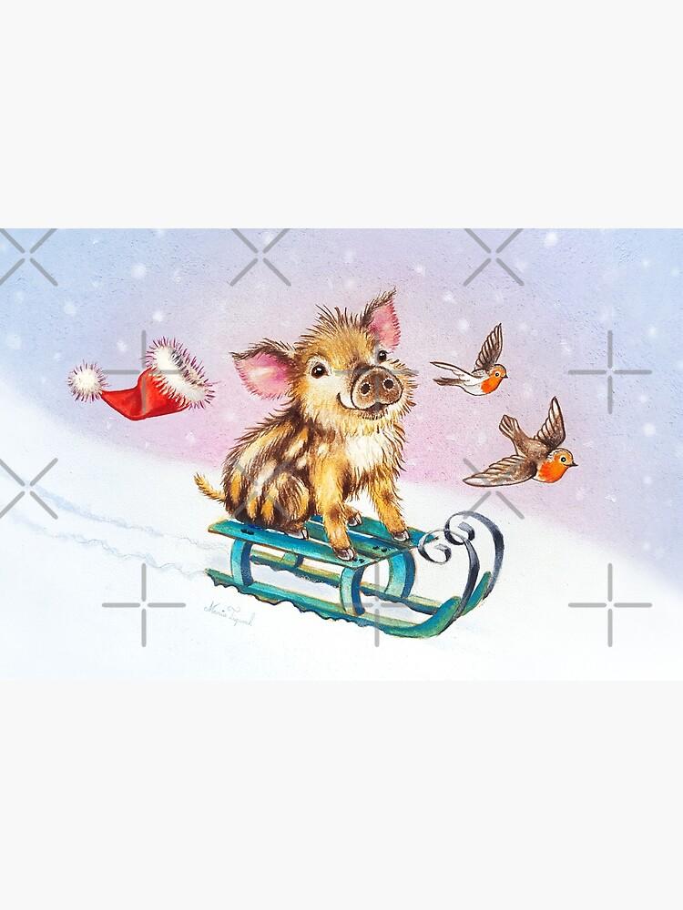 Christmas piglet by Maria Tiqwah by MariaTiqwah