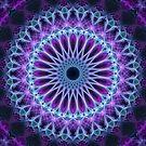 Violet and blue mandala by JBlaminsky