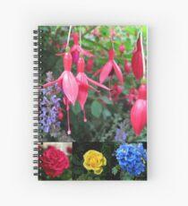 Erinnerungen an den Sommer - Floral Collage Spiralblock