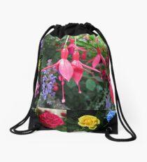 Erinnerungen an den Sommer - Floral Collage Turnbeutel