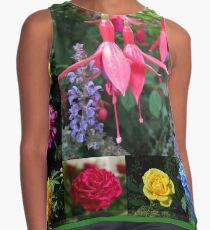 Erinnerungen an den Sommer - Floral Collage Ärmelloses Top
