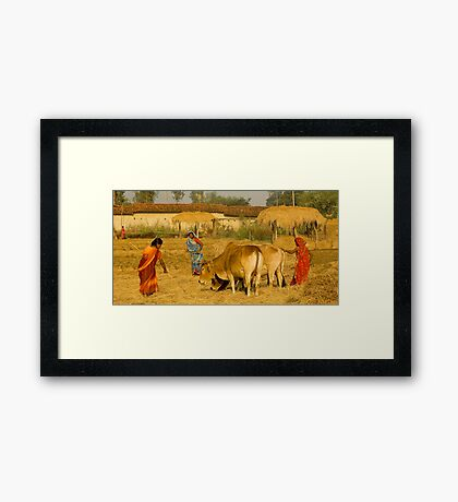 The Village Life-3 Framed Print