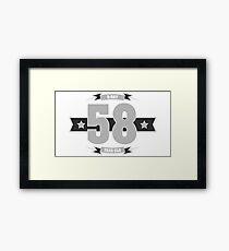 B-day 58 (Light&Darkgrey) Framed Print