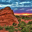 Red Rock Sunset by Gregory Ballos