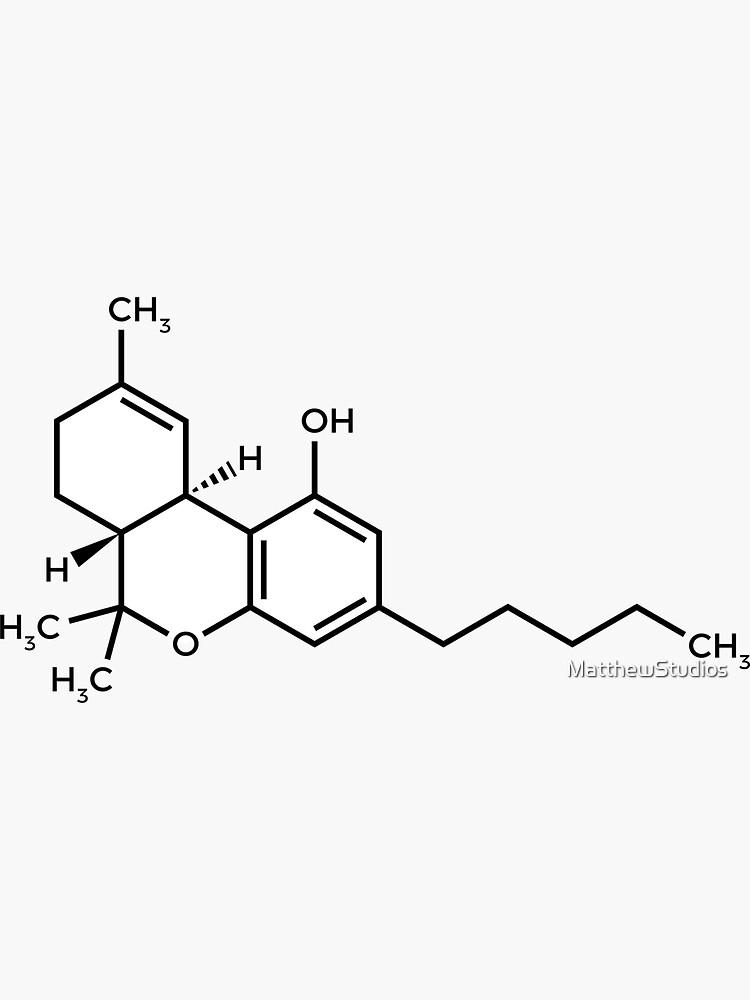 THC Molecule by MatthewStudios