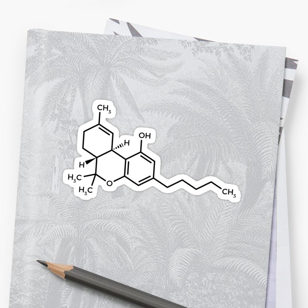 Molécula de THC Pegatina