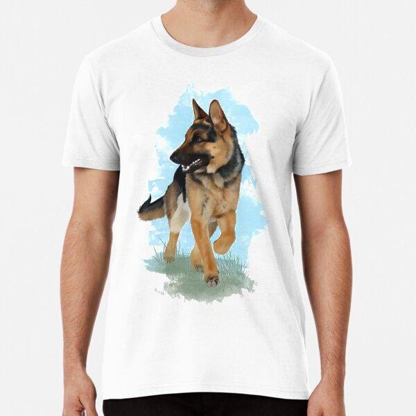 German Shepherd Love T-Shirt Gifts for German Shepherd lovers dog pop art t shirt Premium T-Shirt