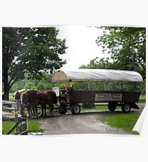 Historic Nauvoo Wagon Ride ~ Illinois, USA Poster