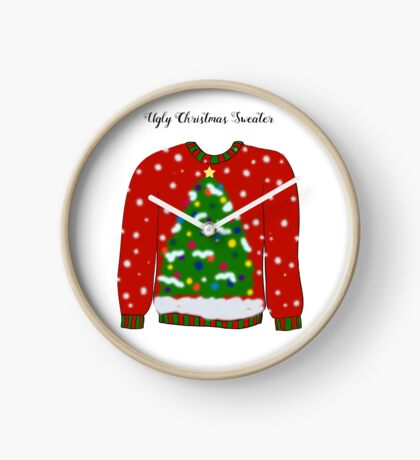 Ugly Christmas Sweater Clock